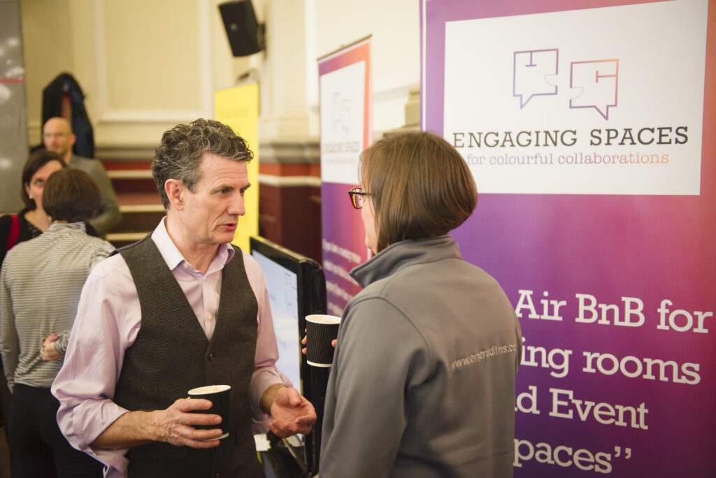 Engaging Spaces Website at the Leamington Business Show 2018