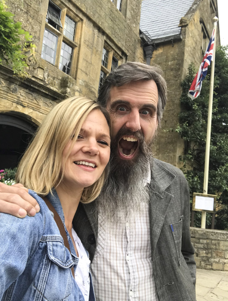 Sian Smith and Charlie Budd Outside the Lygon Arms in Broadway-1