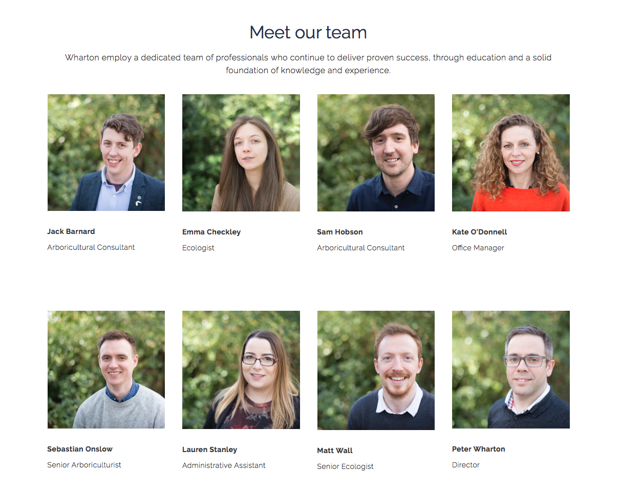 Wharton Natural Infrastructure - The Team