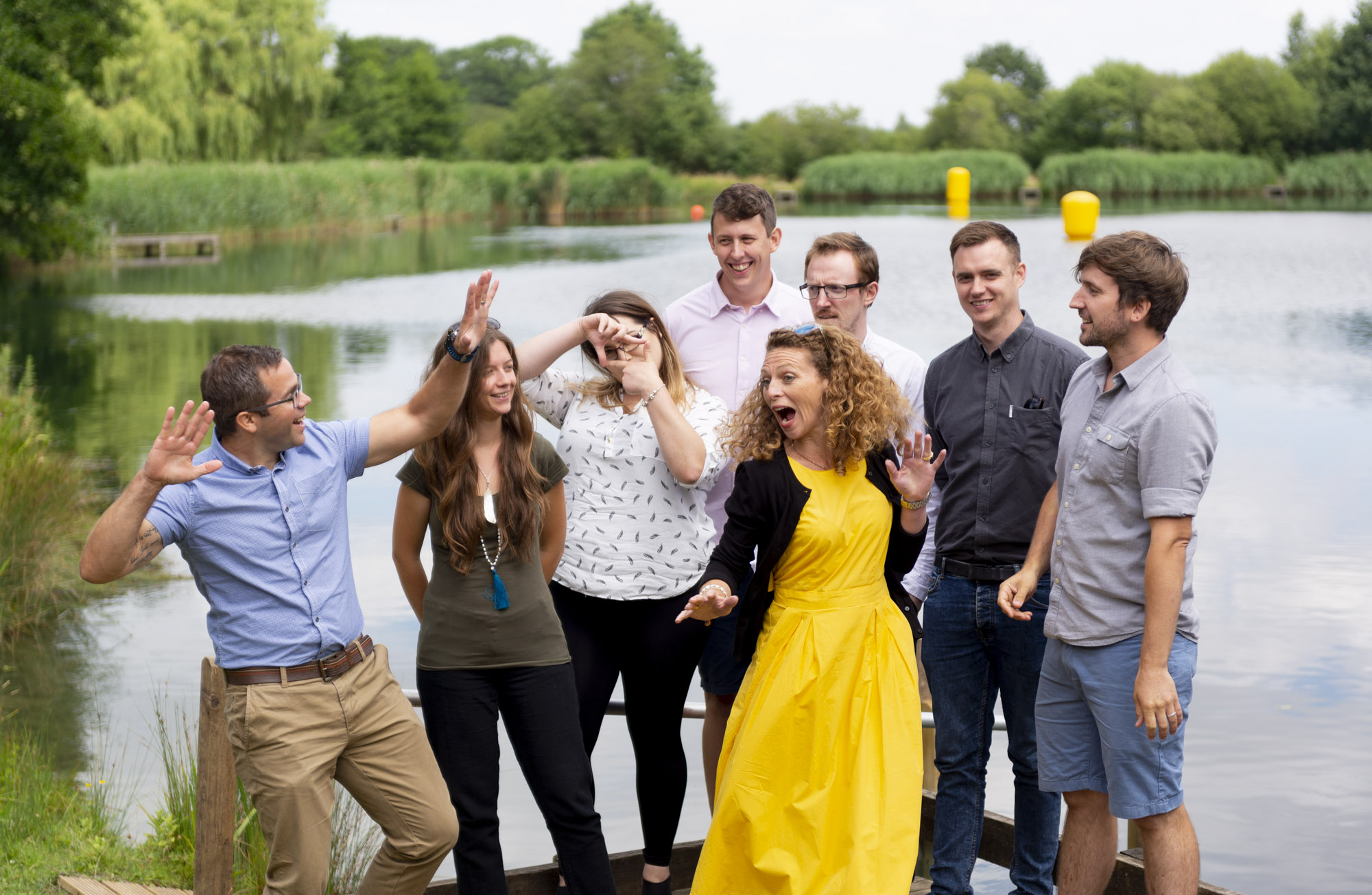 When you're doing a photo shoot with the Wharton team, make sure you're always ready for the shots before they pose for the sensible team shot!