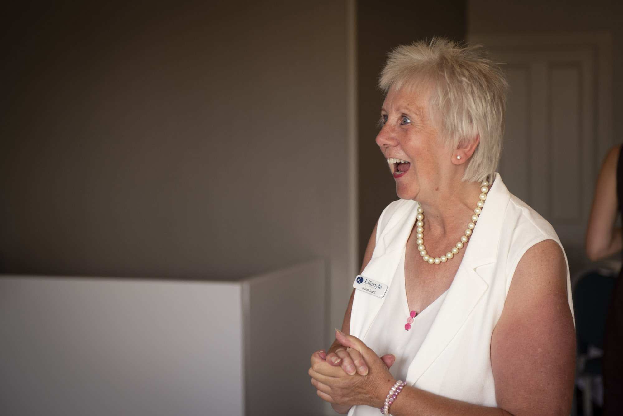 June Irani at Business Biscotti in Stratford upon Avon at the Crowne Plaza Hotel by Charlie Budd The Tall Photographer