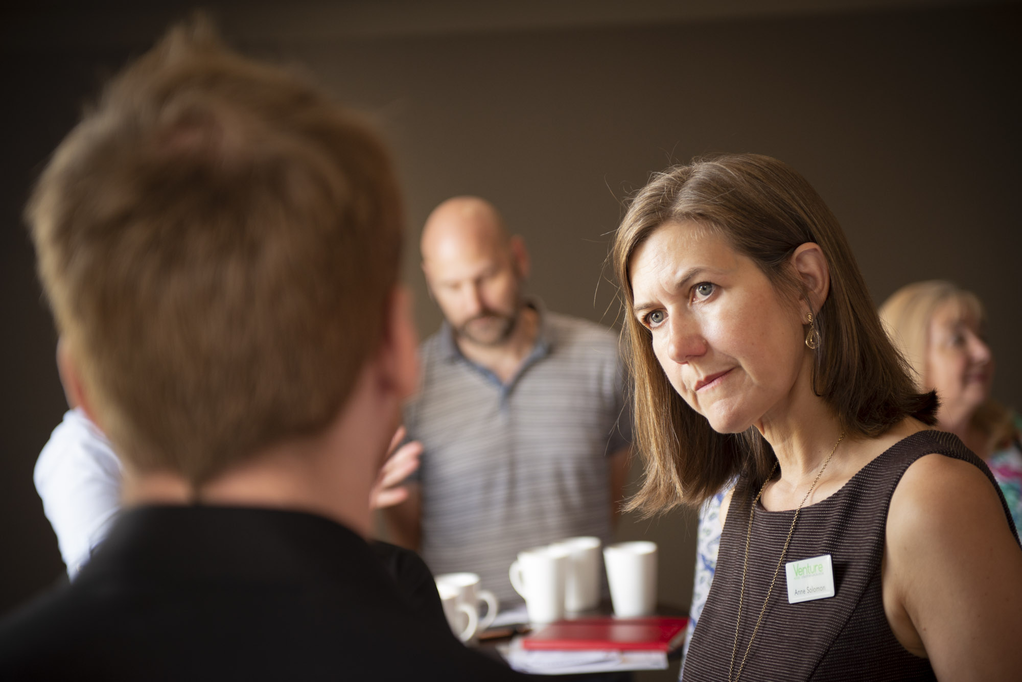Anne Solomon from Venture House at Stratford Leisure Centre at Business Biscotti at the Crowne Plaza in Stratford upon Avon by Charlie Budd The Tall Photographer