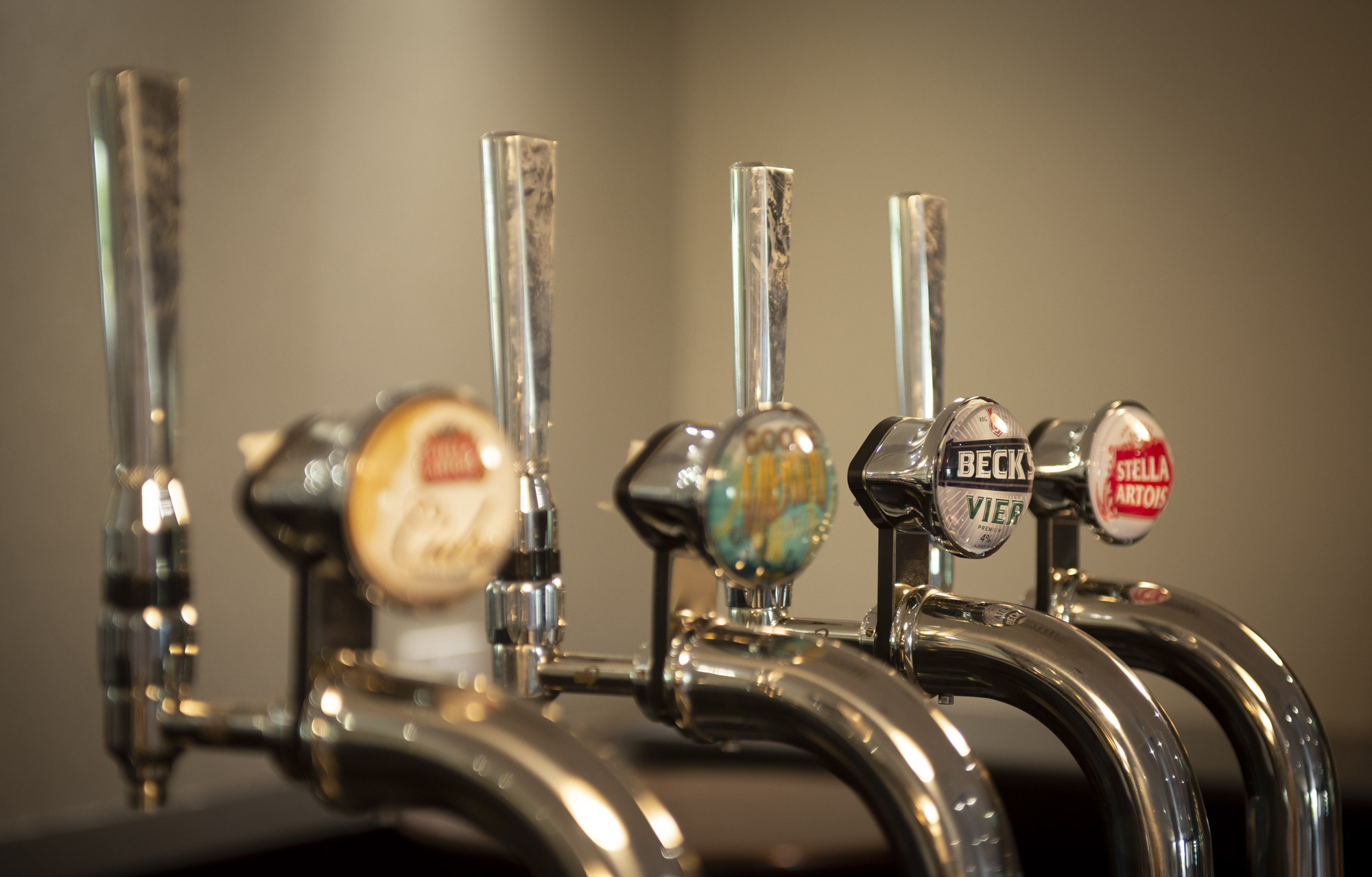 Becks beer on tap at the Crowne Plaza Hotel Stratford upon Avon by Charlie Budd The Tall Photographer